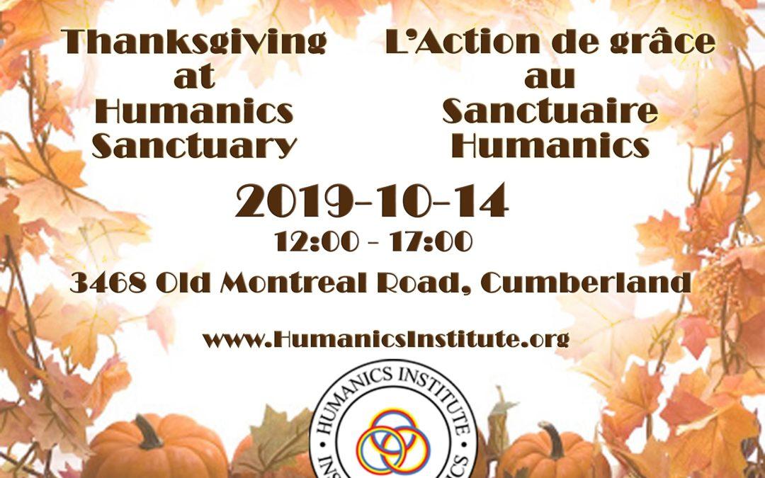 Thanksgiving at Humanics Sanctuary / L'Action de grâce au Sanctuaire Humanics