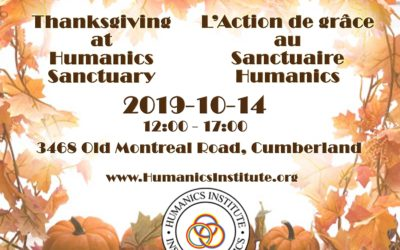 Thanksgiving at Humanics Sanctuary / L'Action de grâce au Sanctuaire Humanics